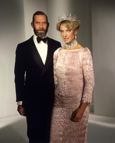 Princess Michael Of Kent Dressed In Designer Evening Gown