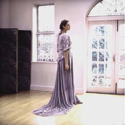 3c46f7a0da3 Winter wedding gown in soft and flowing velvet and silk